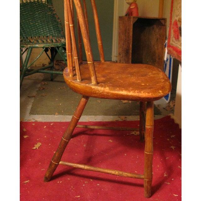 Antique Signed Samuel Gragg Windsor Chair - Image 9 of 11