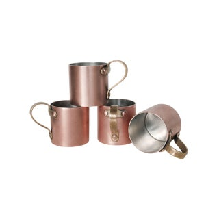 Blanc Creatives Hand-Made Copper & Brass Mugs S/4
