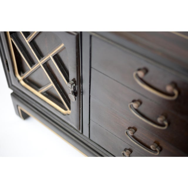 Image of American of Martinsville Chinoiserie Nightstand Cabinet