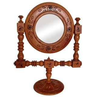 Moroccan Hand-Painted Vintage Mirror