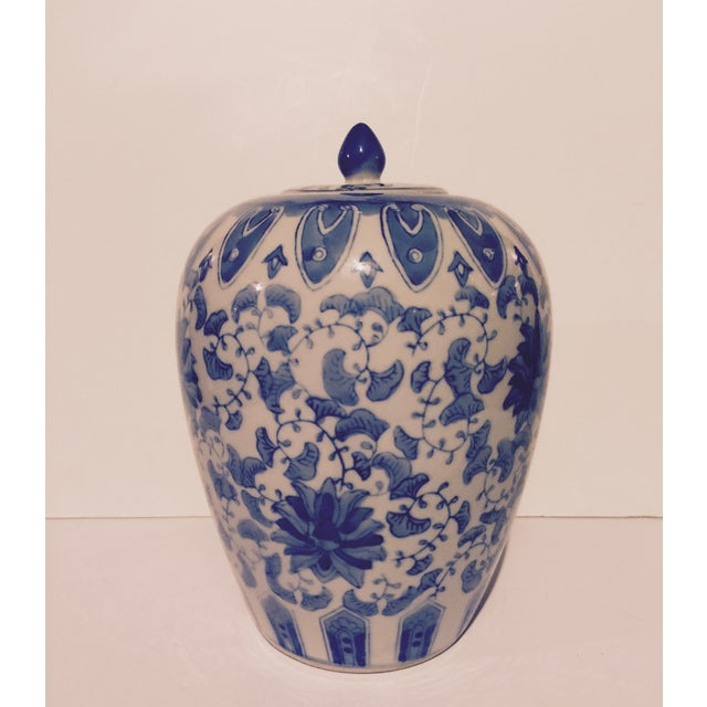 Chinoiserie Blue And White Porcelain Ginger Jar - Image 3 of 6