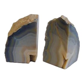 Druzy Geode Rock Bookends - A Pair