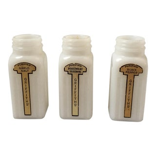 Vintage Griffiths Seasoning Jars - Set of 3