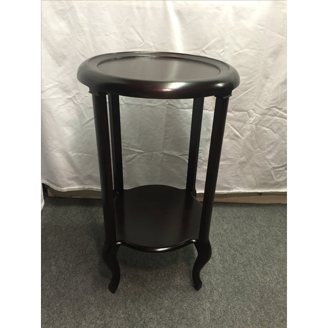 Image of Mahogany Two Tier Plant Stand