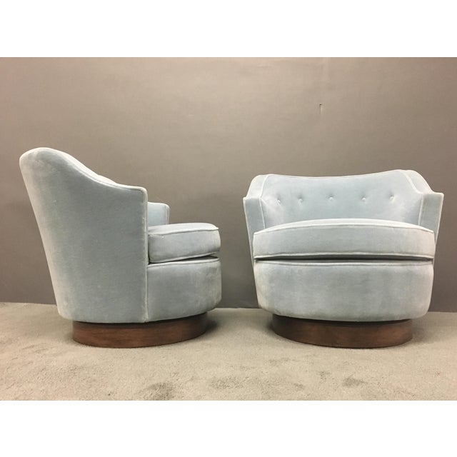 Mid-Century Modern Mohair Chairs - A Pair - Image 2 of 10