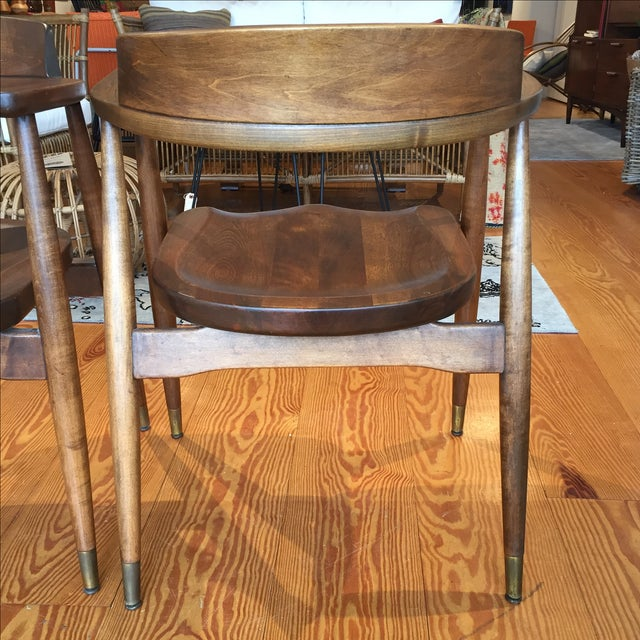 Mid-Century Captain's Chairs - A Pair - Image 6 of 10