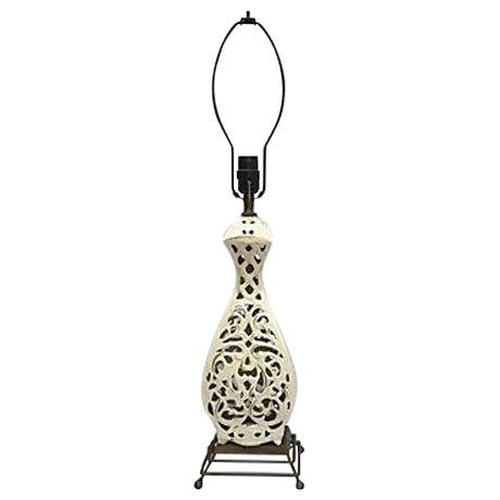 Ivory Sculptured Vintage Lamp - Image 1 of 5