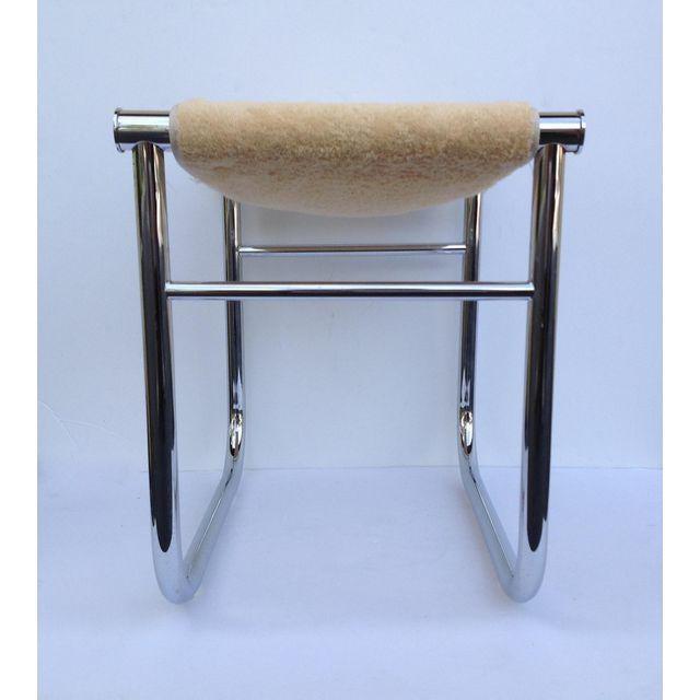 Le Corbusier Chrome Low Stool Chairish