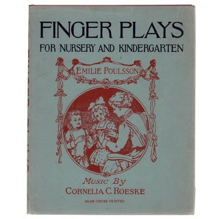 "1893 ""Finger Plays for Nursery and Kindergarten"" Book"