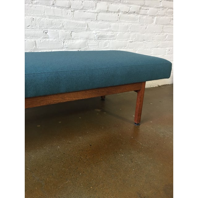 Danish Modern Walnut Upholstered Bench - Image 4 of 6