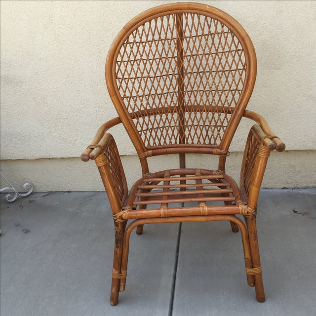 Vintage Rattan Bamboo Chair - Image 5 of 11
