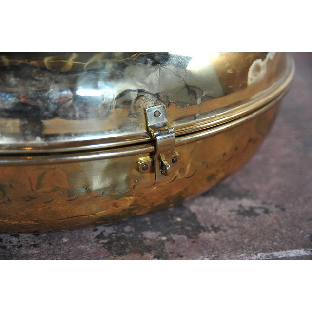 Image of Antique 19th Century Brass Foot Warmer