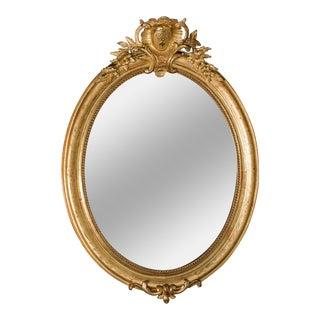 Antique French Oval Mirror Louis XVI Style circa 1890