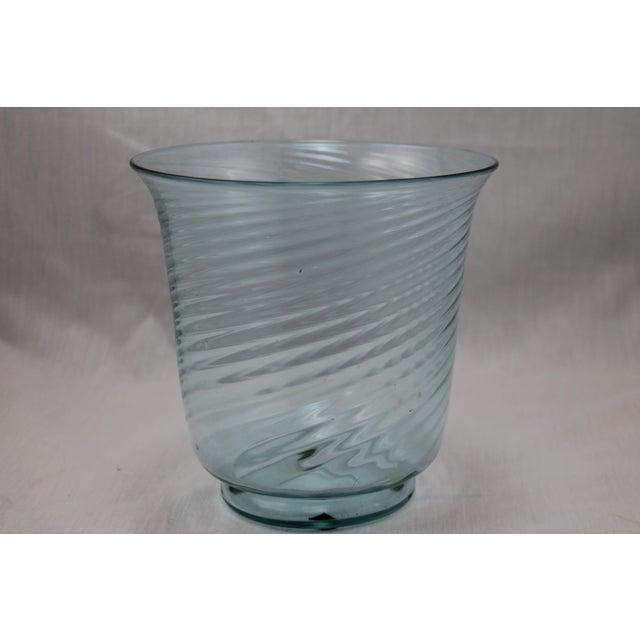 Art Deco Era Steuben Glassworks Baby Blue Translucent Swirl Bowl - Image 3 of 8
