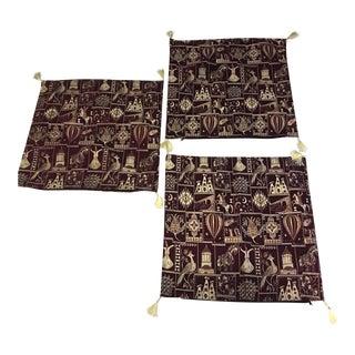 Mid-Century Oriental Pillow Cases - Set of 3