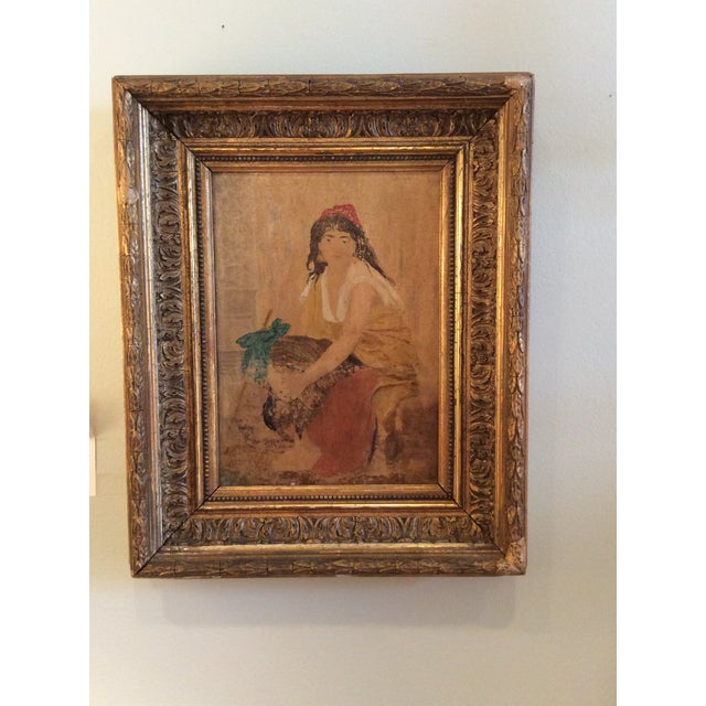 Image of 19th Century Oil Painting in Period Frame