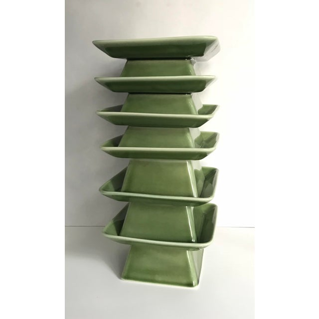 Pagoda Inspired Vases / Candle Holders - Set of 6 - Image 2 of 5