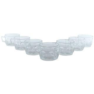 French Petite Glass Mugs - Set of 7