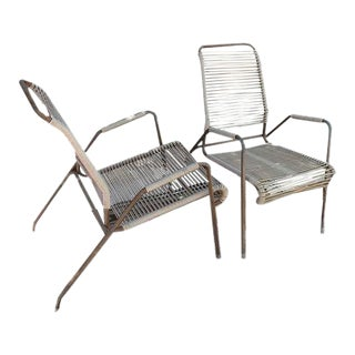 Mid-Century Surfline Patio Chairs - A Pair