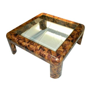 Maitland Smith Tessellated Shell & Brass Table