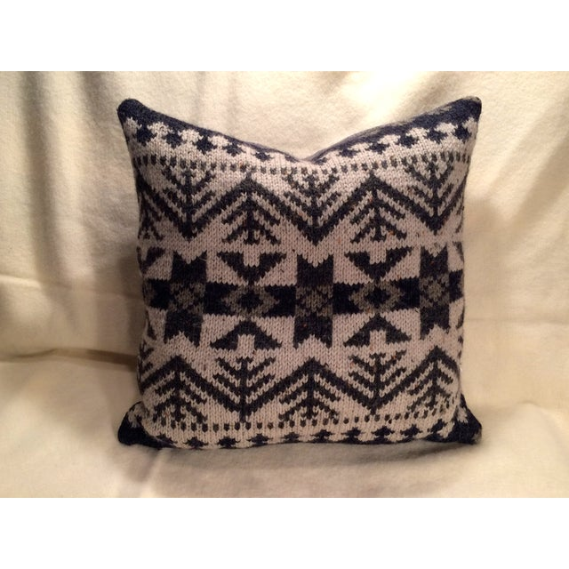 Vintage Blanket Pillows - Pair - Image 3 of 5