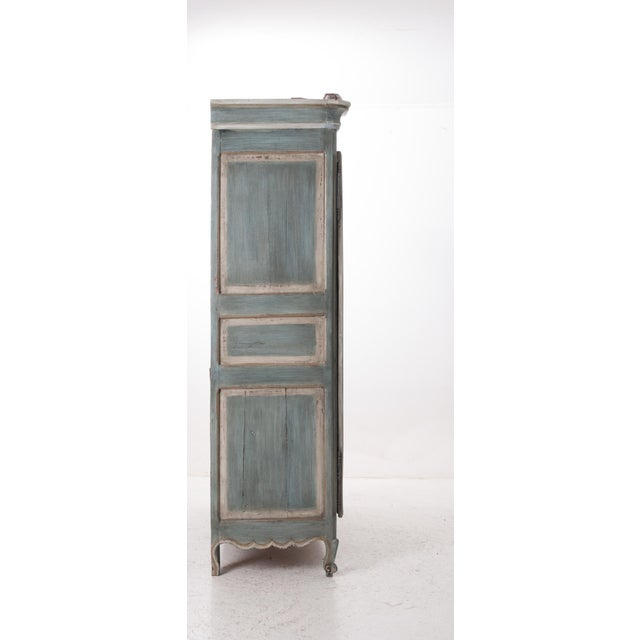 French Early 19th Century Painted Cherry Armoire - Image 8 of 10