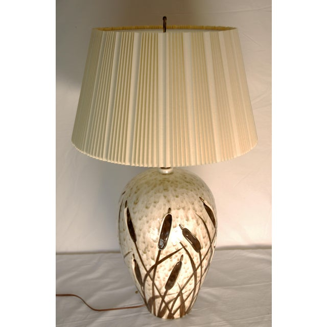 Mid-Century Cattail Lamp With Night Light - Image 2 of 8