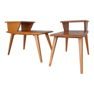 Heywood Wakefield Mid-Century End Tables - A Pair