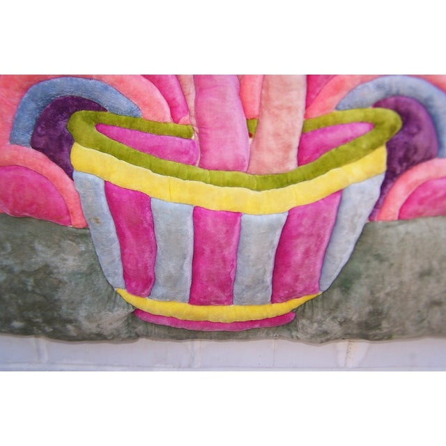 Modern Velvet Wall Sculpture by Bill Godfrey - Image 5 of 10