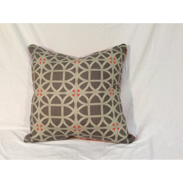 Image of Lattice Coral & Taupe Toss Pillows
