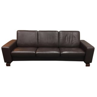 Ekornes Stressless Leather Reclining Sofa