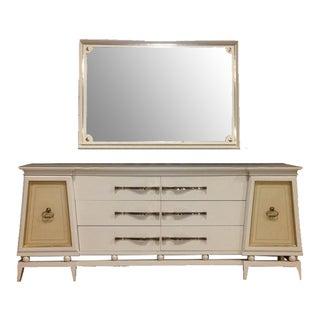 Hollywood Regency Dresser & Mirror