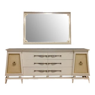 Hollywood Regency Dresser & Mirror