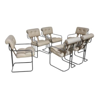 """Set of six Guido Faleschini """"Tucroma"""" Dining Chairs by i4 Mariani for Pace"""