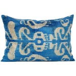 Image of Handmade Soft Silk Velvet Ikat Pillow