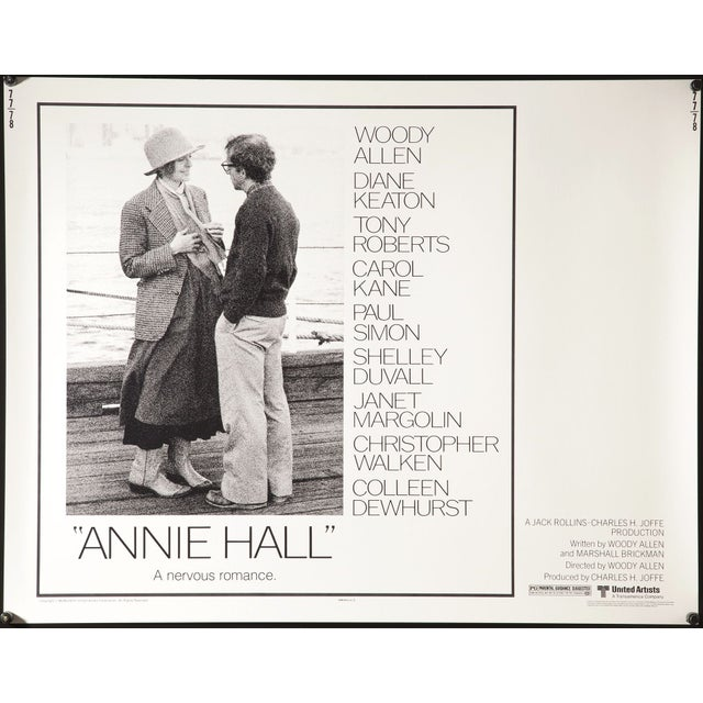 """""""Annie Hall"""" 1977 Film Poster - Image 2 of 3"""
