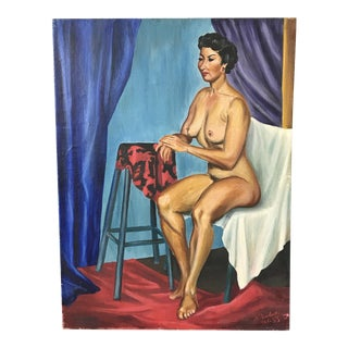Vintage Original Nude Oil Painting by Pawlicki 55