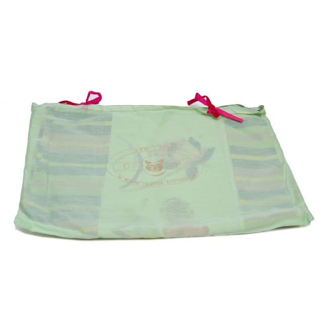Lisa Corti Green Tablecloth Organdy in Bag - Image 2 of 2