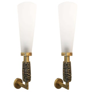 Pair of Large Luciano Frigerio Wall Lights, Italy, 1970's