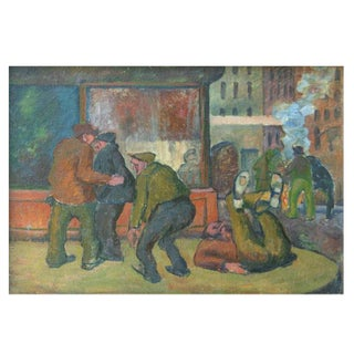 William Freed Bowery Painting