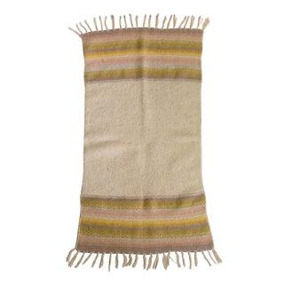 Vintage Tan Striped Wool Rug