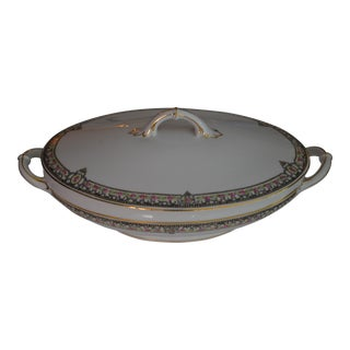 Covered Vegetable Oval Serving Dish