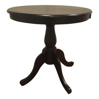 Black Pedestal Side Table