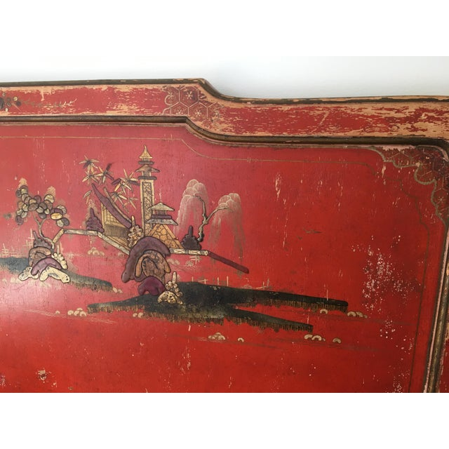 Vintage Chinoiserie Styled Wooden Headboard - Image 5 of 6