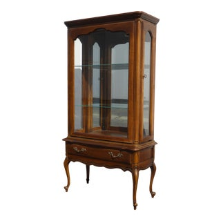 Vintage French Provincial Display China Cabinet by Hammary