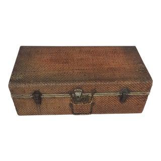 Wicker Vintage Suitcase
