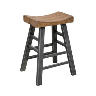 Sushi Stool With Industrial Iron Legs