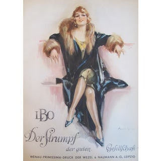 Original 1927 Lithographic Beauty Poster