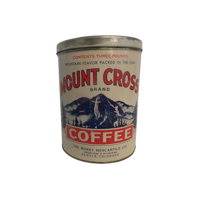 Morey Mercantile Colorado Mount Cross Coffee Tin - Image 1 of 3