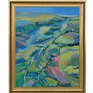 Hillside Landscape Painting by Ray Cuevas